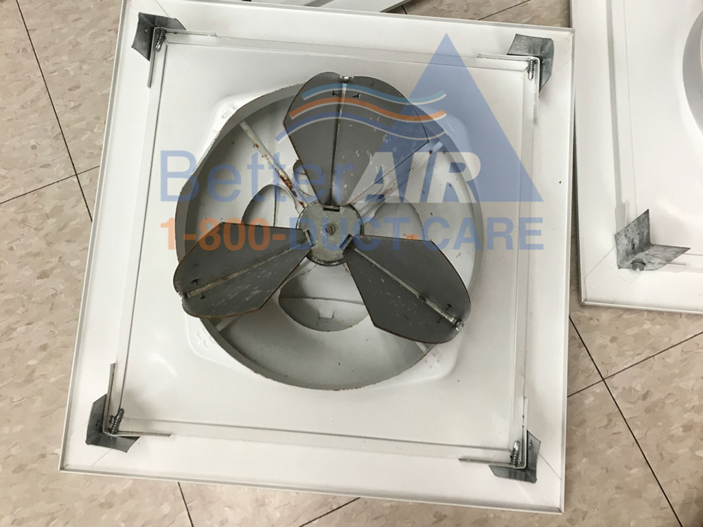 Vent Fan After Cleaing -  Better Air Commercial Air Duct Cleaning