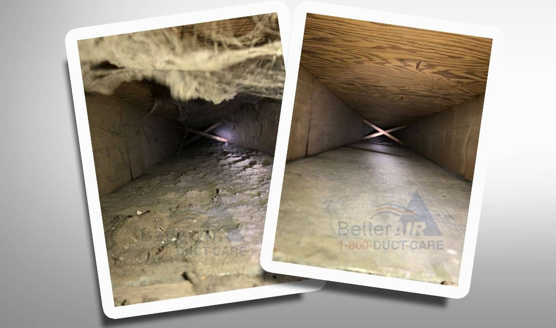 Better Air - Ductcare.com - Before And After Air Duct Cleaning