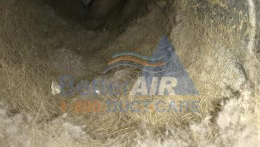 Very Dirty Air Duct - BEFORE Cleaning