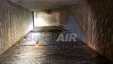 Fiber Glass Air Duct - AFTER Cleaning