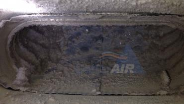 BEFORE - Cleaning HVAC Air Duct Contaminants