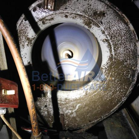 MOLDY/ Dirty Blower Motor - BEFORE Cleaning - Farmington, CT