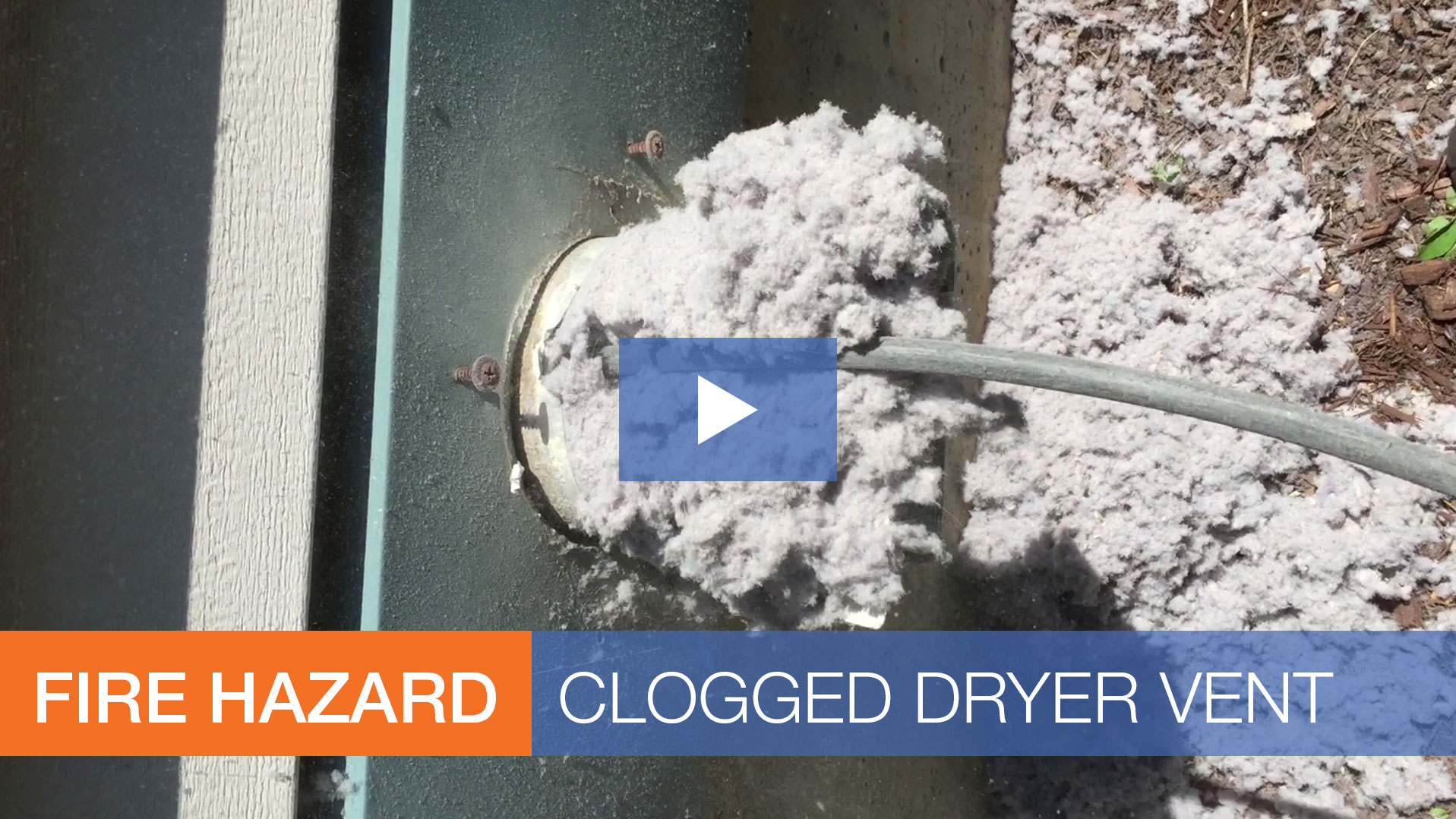 video severely clogged dryer vent extreme lint buildup fire hazard